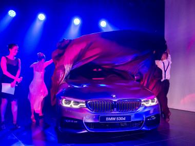 BMW - scénografie představení nové řady 5 | Event Deco