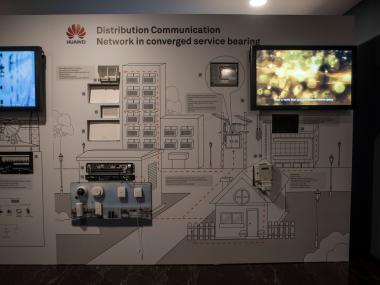 Huawei_prezenční stěna_výroba_Eventdeco