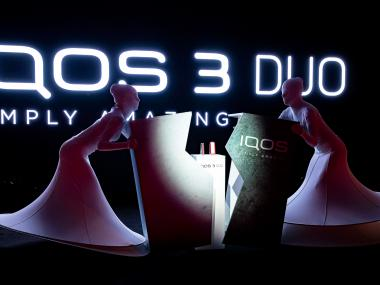 Eventdeco_IqosDuo3_launch produktu_výroba_dekorace